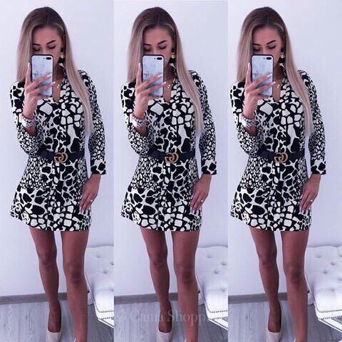 Ασπρόμαυρο φόρεμα Έμιλυ
