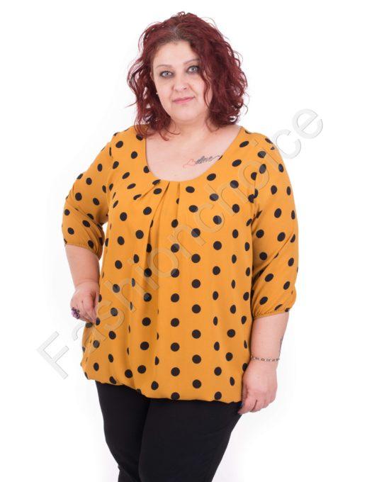 Πουά maxi μπλούζα σε τέσσερα χρώματα /5XL,6XL/
