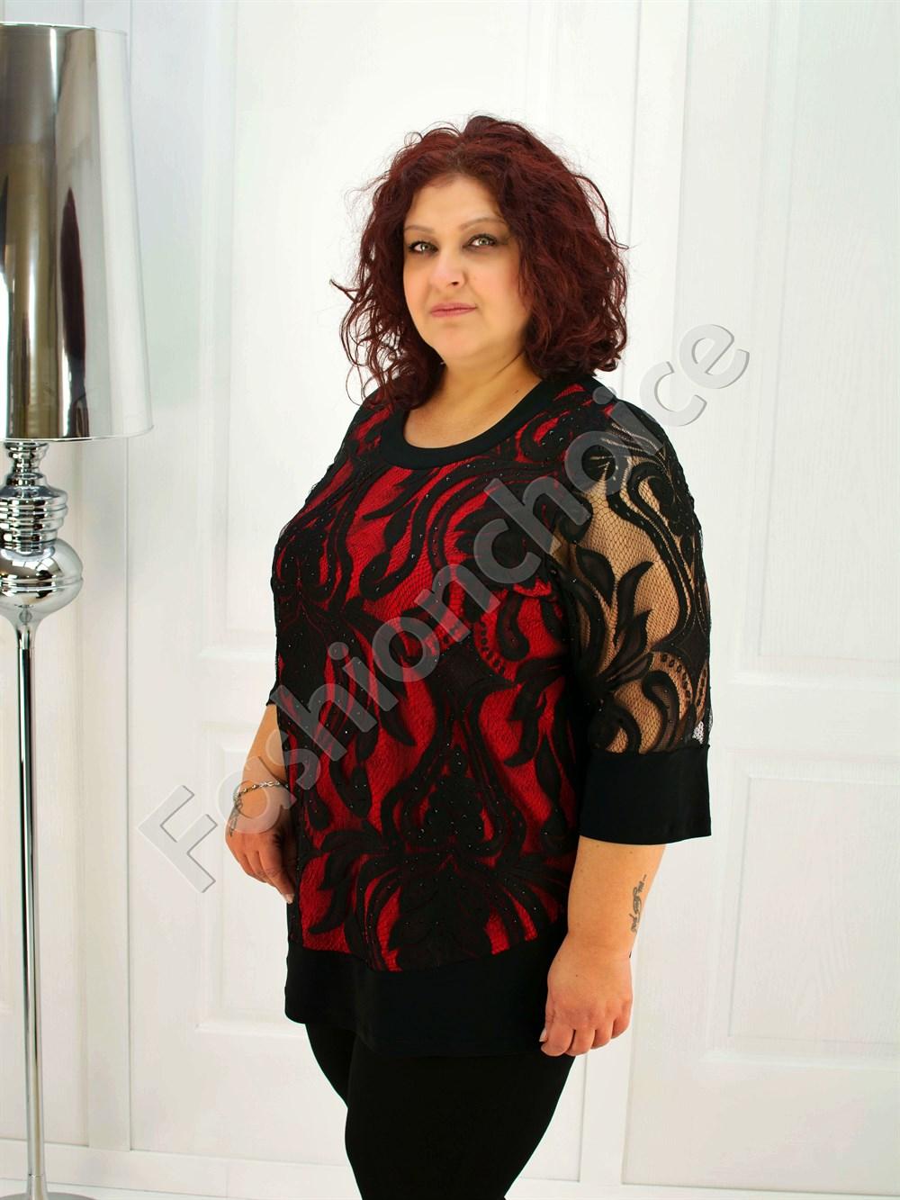 5f955f90d08d Γυναικεία μπλούζα μάυρη δαντέλα κωδ 104-3419 από το Fashionchoice
