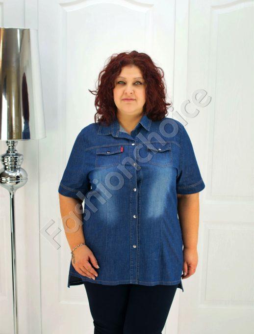 Blue τζιν maxi πουκάμισο κωδ 015-209