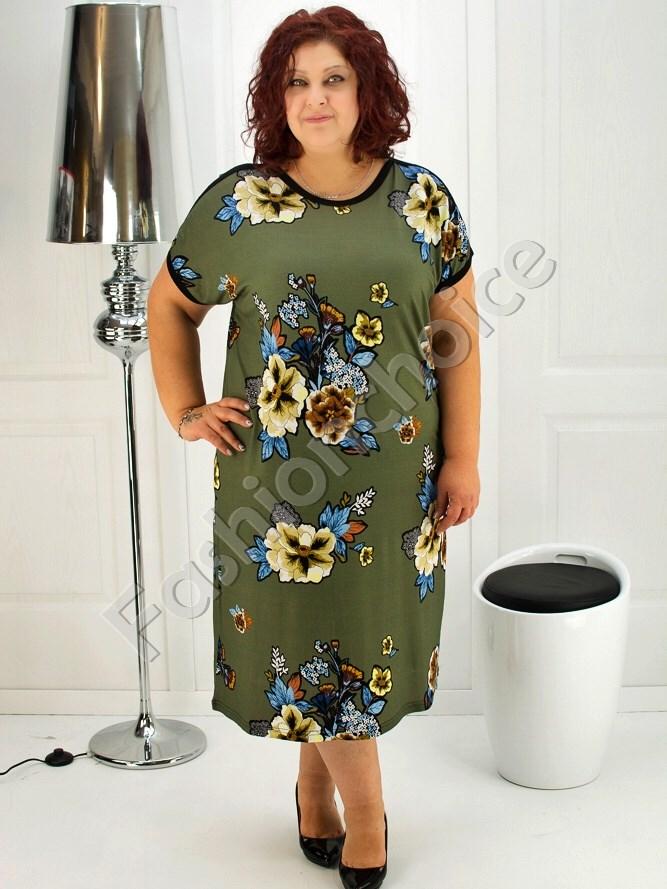 3a1399c5aaf Floral φόρεμα plus size κωδ 708-6937 από το fashionchoice.gr