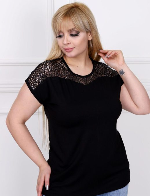 Μπλούζα plus size με παγιέτα κωδ 711-7031