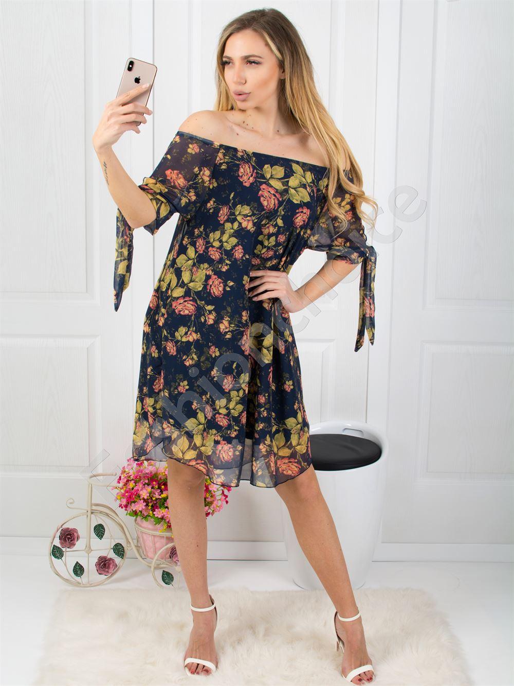 163896071b64 Φόρεμα εμπριμέ έξωμο κωδ 0587 από το fashionchoice online