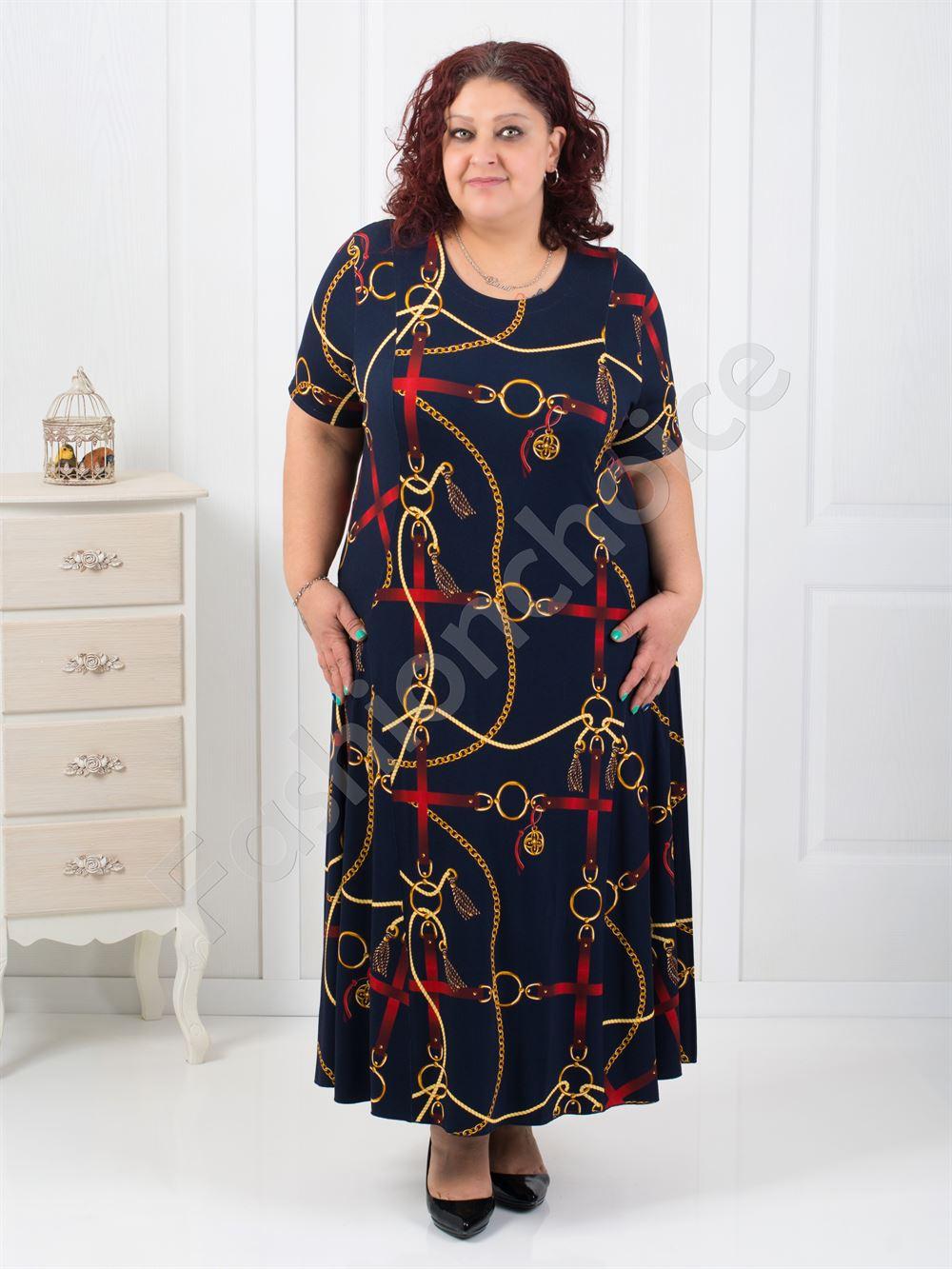 932200942d5b Plus size μακρύ εμπριμέ φόρεμα κωδ 070-3 από το fashionchoice.gr