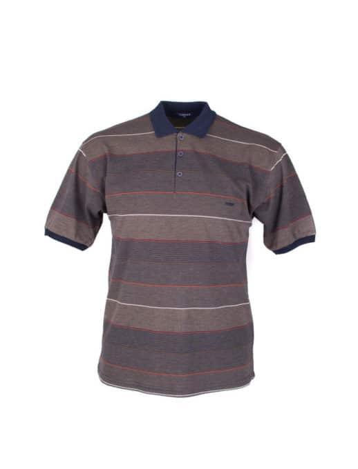 Plus size μπλούζα με λεπτή ρίγα κωδ 734-8328-2