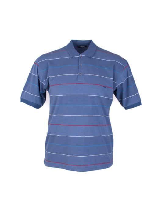 Plus size μπλούζα με λεπτή ρίγα κωδ 734-8328-1