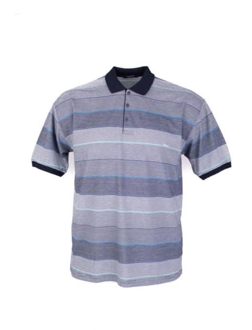 Plus size μπλούζα με λεπτή ρίγα κωδ 734-8328-3