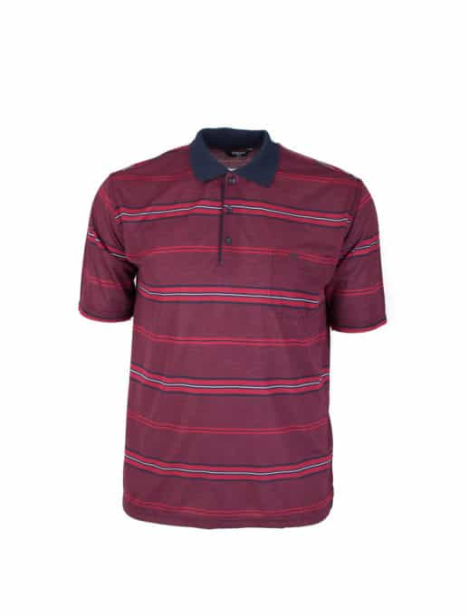 Μπορντό plus size ανδρική μπλούζα κωδ 735-9053-2