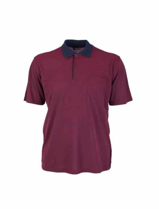 Μπορντο ανδρική μπλούζα plus size κωδ 738-9092-1