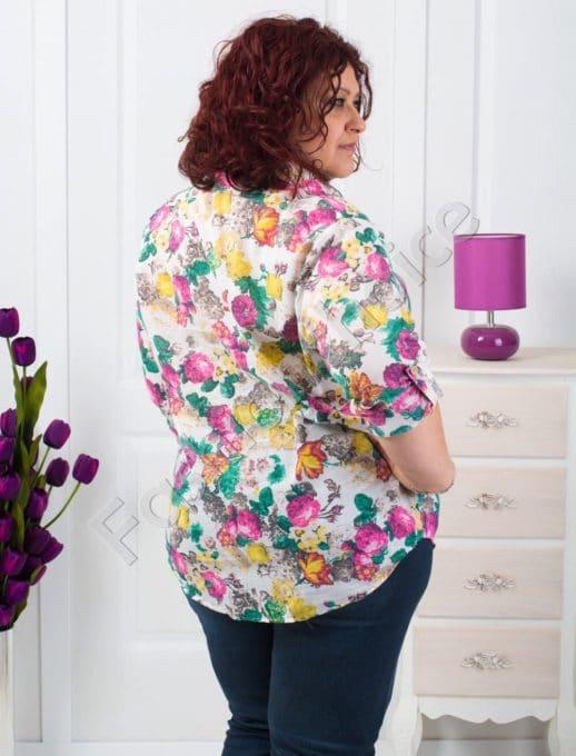 Floral πουκάμισο plus size /52-60/ κωδ 704-8