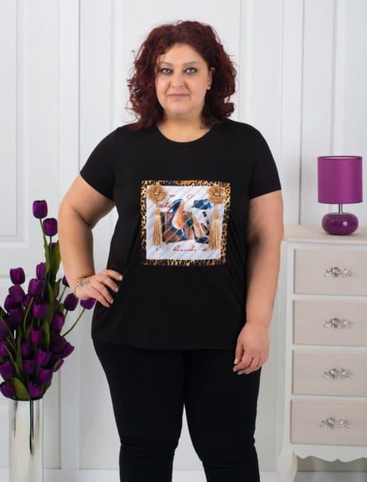 Μπλούζα plus size με στάμπα κωδ 711-3