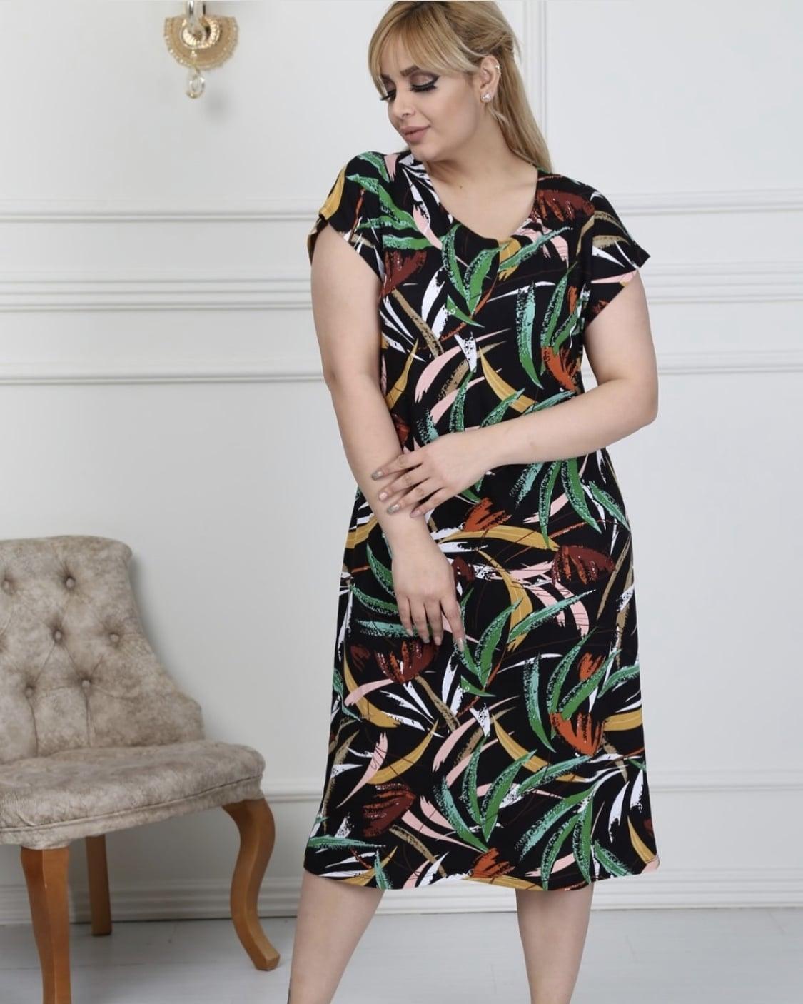 a58a82bff0b Tropical φόρεμα plus size κωδ 741-7-1 Fashionchoice