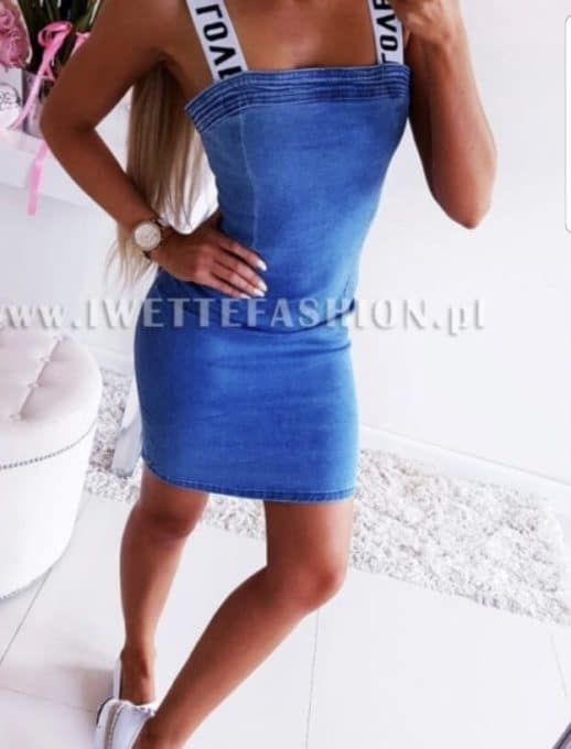 light blue τζιν φόρεμα κωδ 772