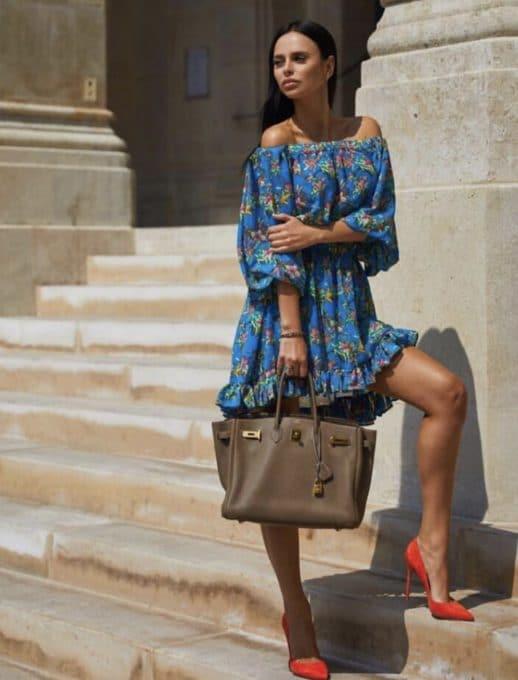 Floral mini φόρεμα κωδ 790