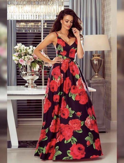 Floral maxi φόρεμα κωδ 786