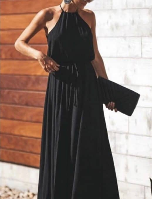 Μάυρο maxi φόρεμα κωδ 787