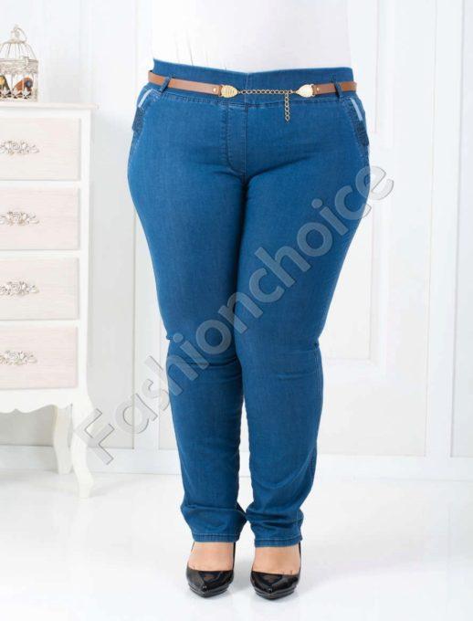 Παντελόνι κολάν plus size τζιν κωδ 752-1439
