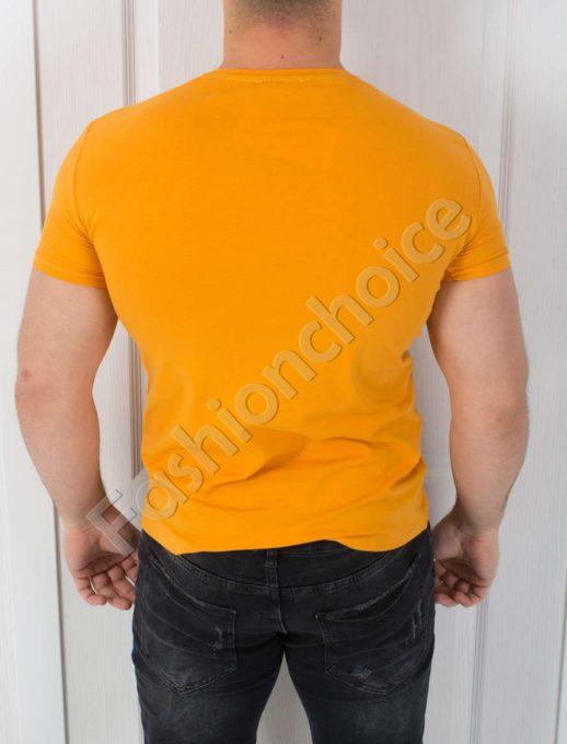 T-shirt με επιγραφή σε τρία χρώματα κωδ 784-1