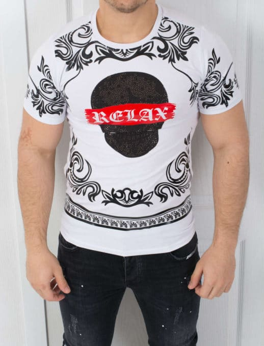 T-shirt τύπωμα και επιγραφή κωδ 542-3608-1