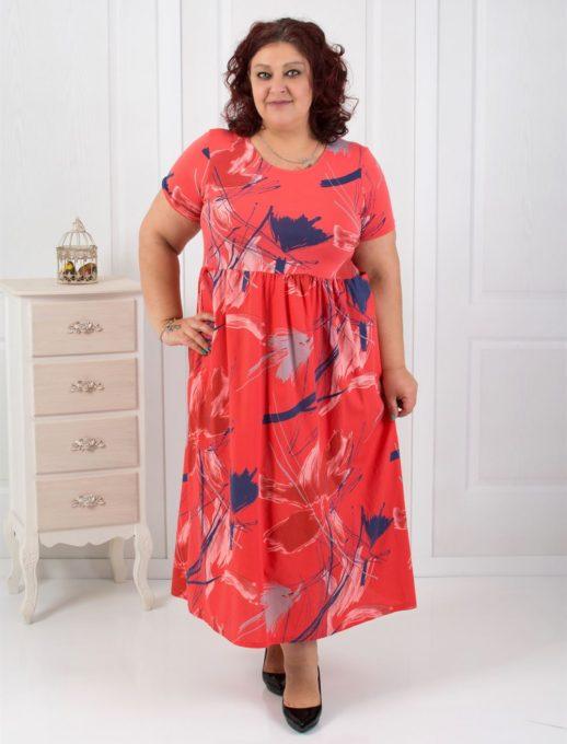 Βαμβακερό maxi φόρεμα σε τρία χρώματα κωδ 530-18624