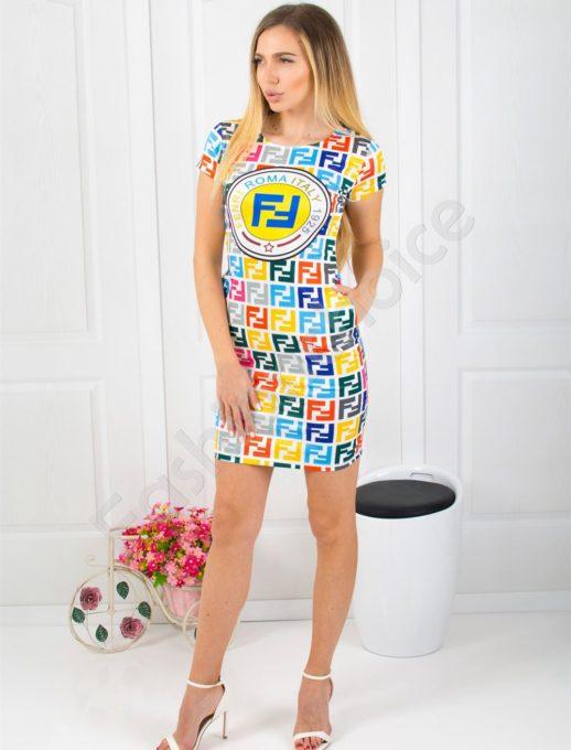 Εμπριμέ mini φόρεμα κωδ 819