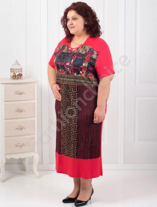 Φορεμα σε τέσσερα χρώματα μεγάλο μέγεθος κωδ 14980