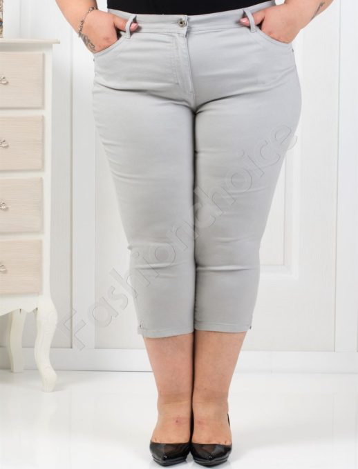 Παντελόνι κάπρι plus size κωδ 838-4