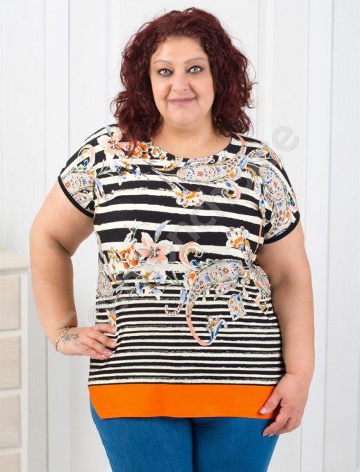 Μπλούζα plus size ριγέ κωδ 711-7