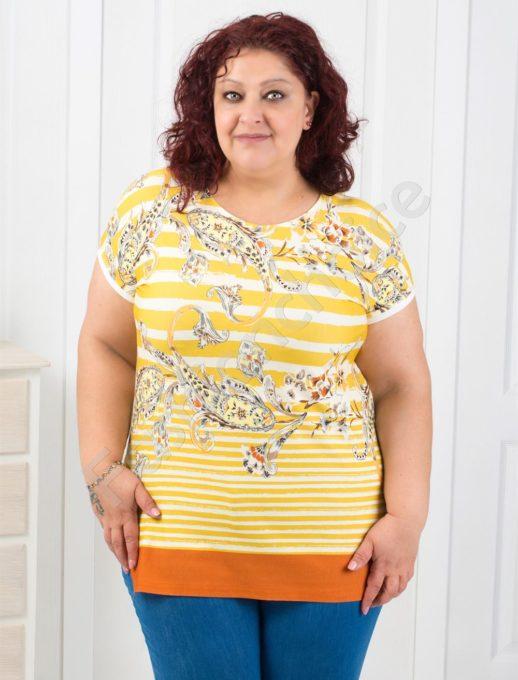 Μπλούζα plus size ριγέ κωδ 711-12