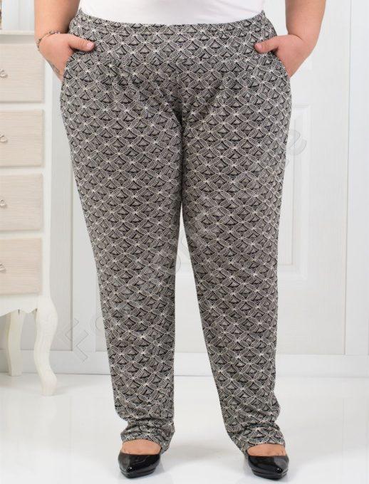 Εμπριμέ παντελόνι με πιέτες κωδ 7046-1
