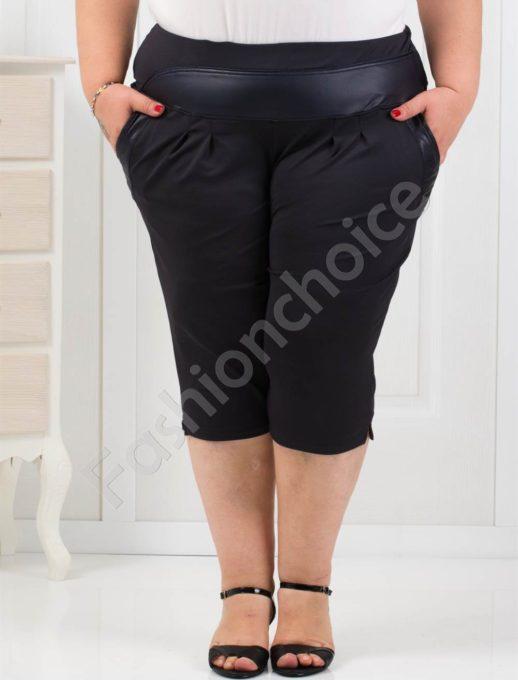 Παντελόνι κάπρι plus size σε σκούρο μπλε κωδ 193