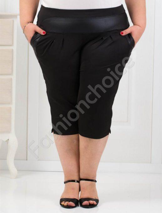 Παντελόνι κάπρι plus size σε μάυρο κωδ 193-1