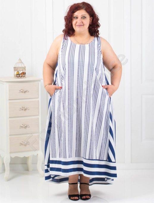 Ριγέ maxi φόρεμα σε τέσσερα χρώματα κωδ 17876