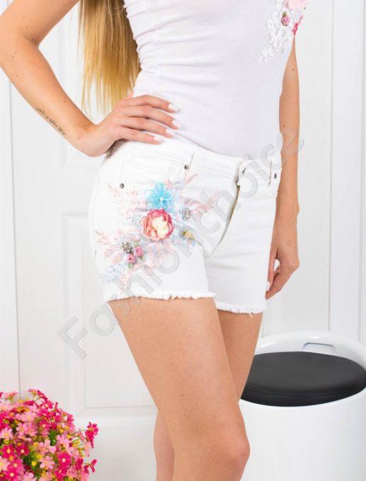 White denim shorts κωδ 850-994
