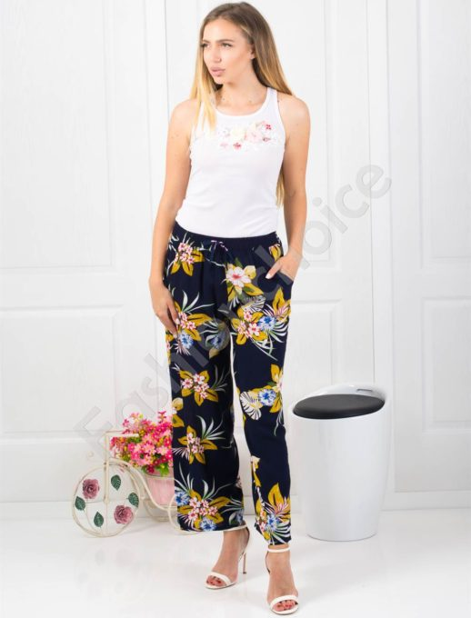 Floral παντελόνι κωδ 001