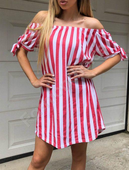 Έξωμο ριγέ φόρεμα κωδ 561-1