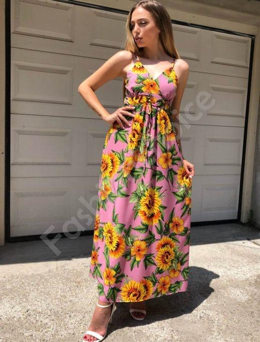 Maxi φόρεμα εμπριμέ κωδ 312-86945-3