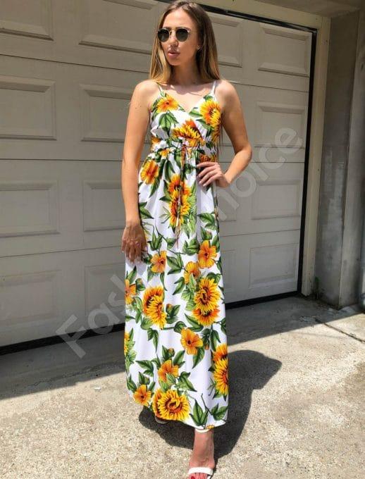 Maxi φόρεμα εμπριμέ κωδ 312-86945-1