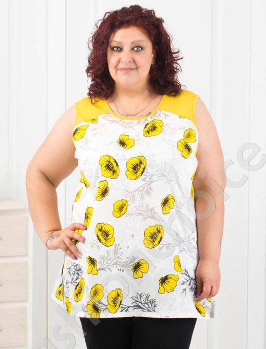Γυναικείο τοπ με κίτρινα λουλούδια κωδ 1113