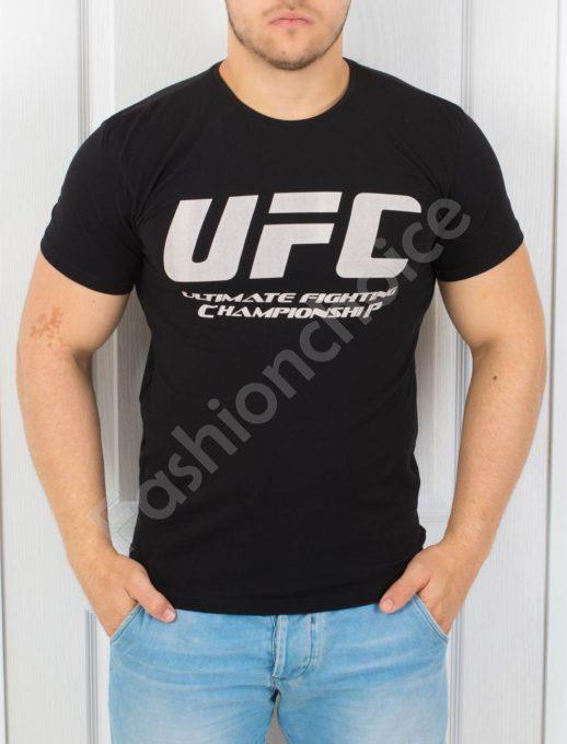 T-shirt μαύρο με επιγραφή κωδ 872-1