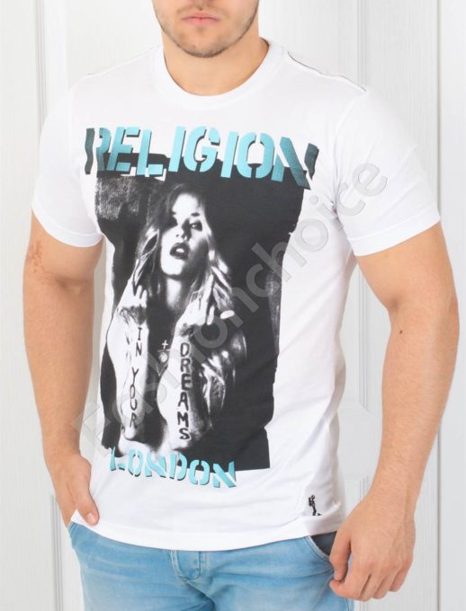 T-shirt λευκό μετύπωμα κωδ 852-1