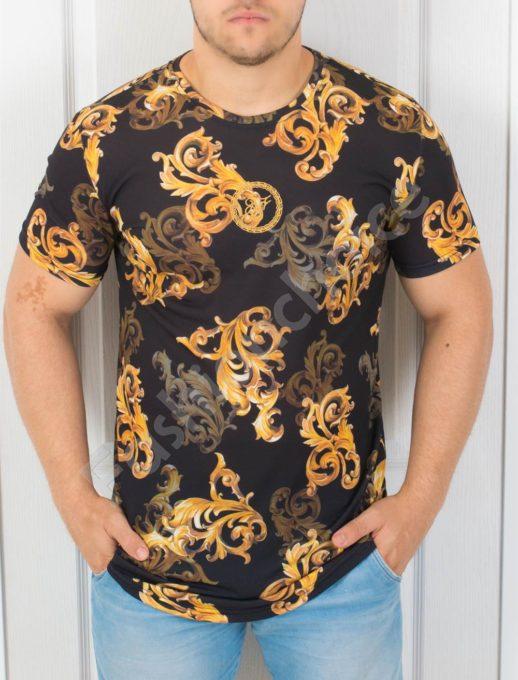 Μαύρη μπλούζα με Baroque print κωδ 853-5