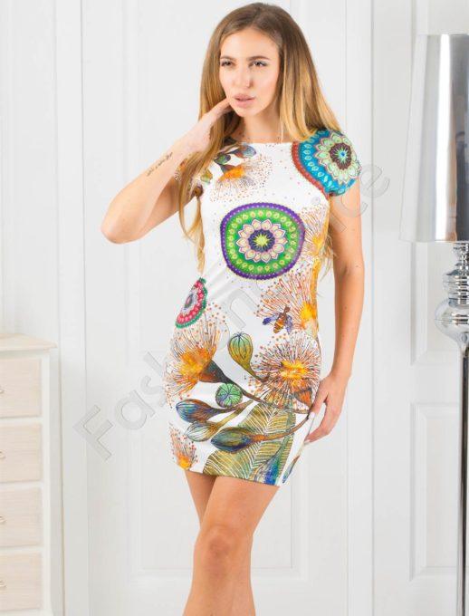Εμπριμέ mini φόρεμα κωδ 819-4