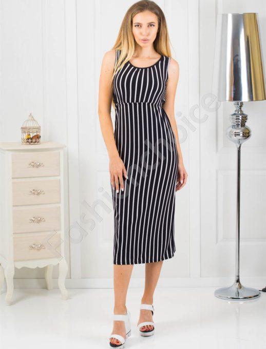 Ριγέ midi φόρεμα κωδ 869