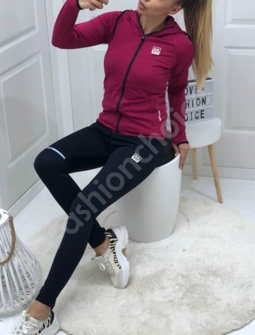Αθλητικό γυναικείο σετ σε φούξια κωδ 008-2