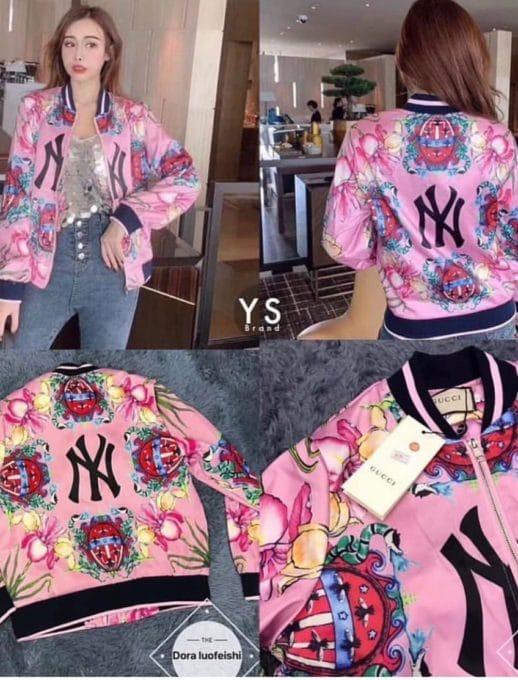 Floral bomber jacket σε ροζ κωδ 1243-1