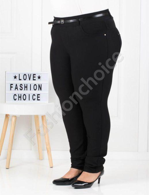 Μαύρο παντελόνι τύπου κολάν κωδ 912
