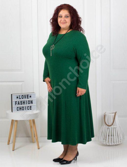 Φόρεμα σε ανοιχτό πράσινο με δώρο κολιέ κωδ 6085-36