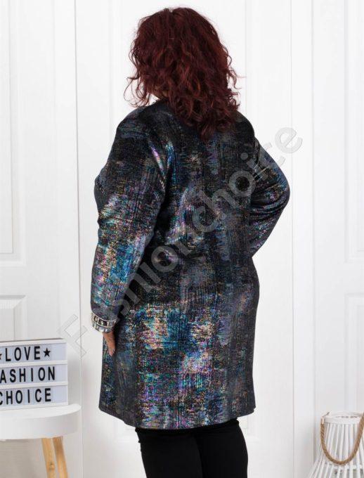 Εμπριμέ παλτό κεντημένο με στρας κωδ 3725