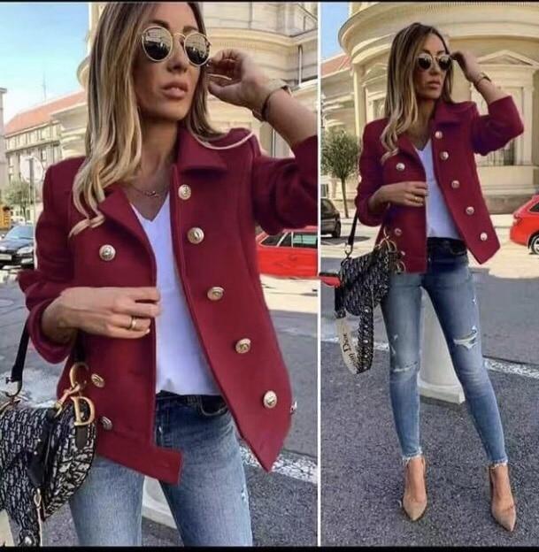 Μπορντό μάλλινό jacket κωδ 290-2